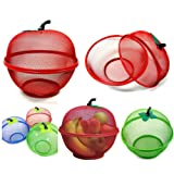 SMARTSTORE Apple Shape Mesh FRESH FRUITS Basket -Keep Flies & Unwanted Insects Out & FREE Smartstore PEELER