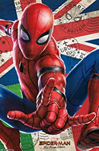 """Trends International Marvel Cinematic Universe - Spider-Man - Far from Home - Spidey Wall Poster, 22.375"""" x 34"""", Unframed Version"""