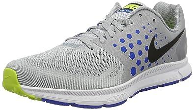 buy popular bbdd4 45c77 NIKE New Men s Air Zoom Span Running Shoe Grey Hyper Cobalt 9.5