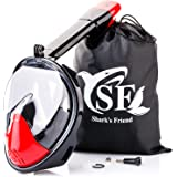 Full Face Anti-Fog Snorkel Mask with Camera Mount, Sporty Breathe Easy Panoramic 180° Full View Snorkeling Head Masks for Adults & Kids