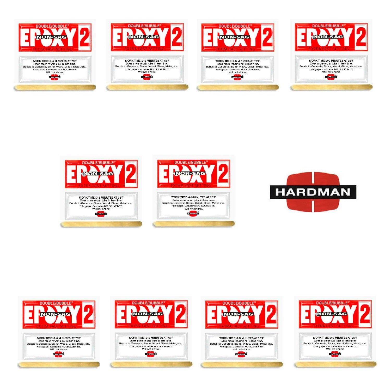 Epoxy 3.5g Double Bubble Packet Includes Ten Packs Hardman 04008 Red 2 Non Sag No Drip Super Fast Set By Midwest Corvette