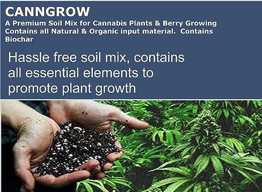 CannGrow – Mezcla de tierra de cannabis premium – con Biochar: Amazon.es: Jardín