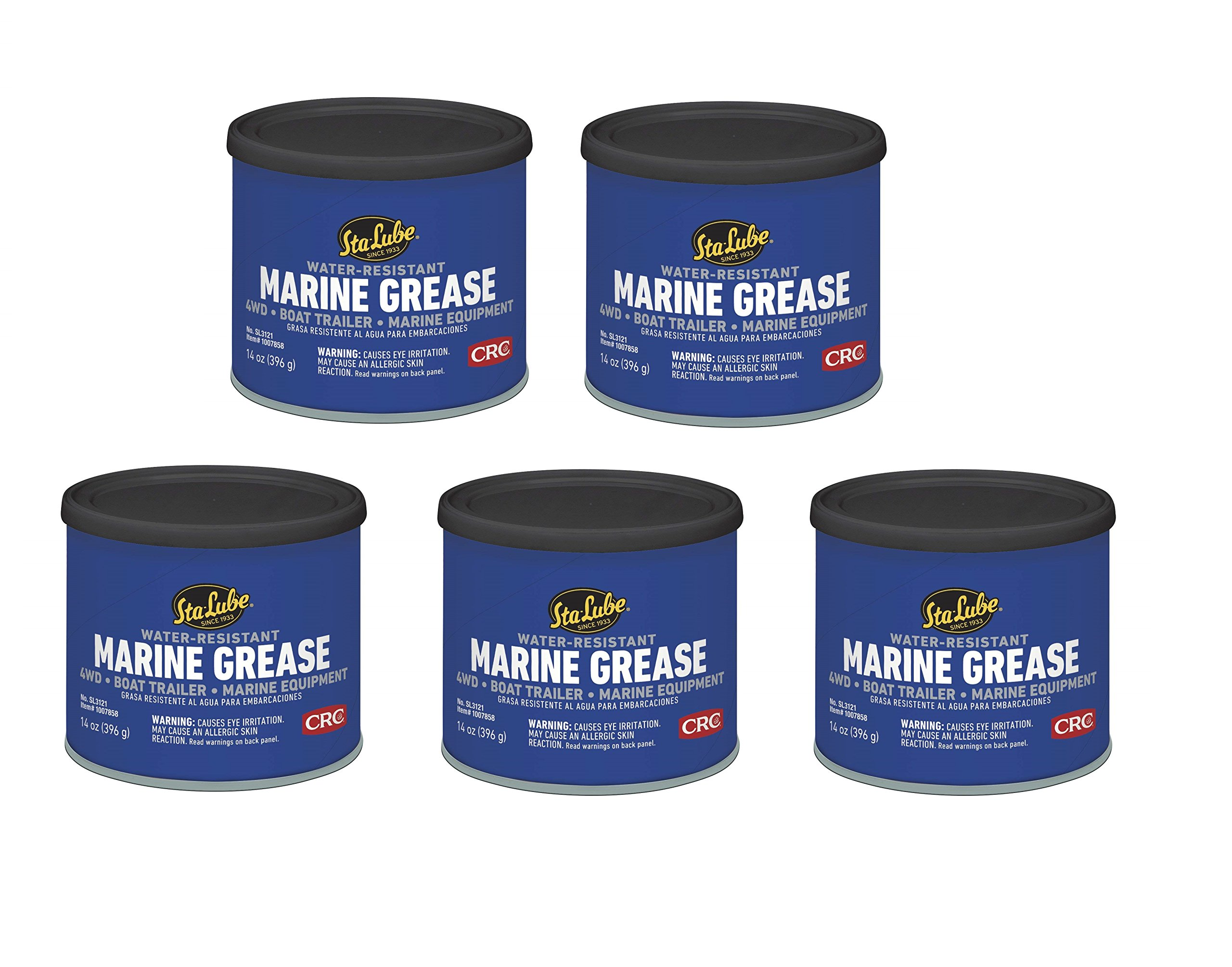 Sta-Lube SL3121 Marine Boat Trailer and 4 x 4 Wheel Bearing Grease - 14 wt   oz  (14 Ounce - 5 Pack)