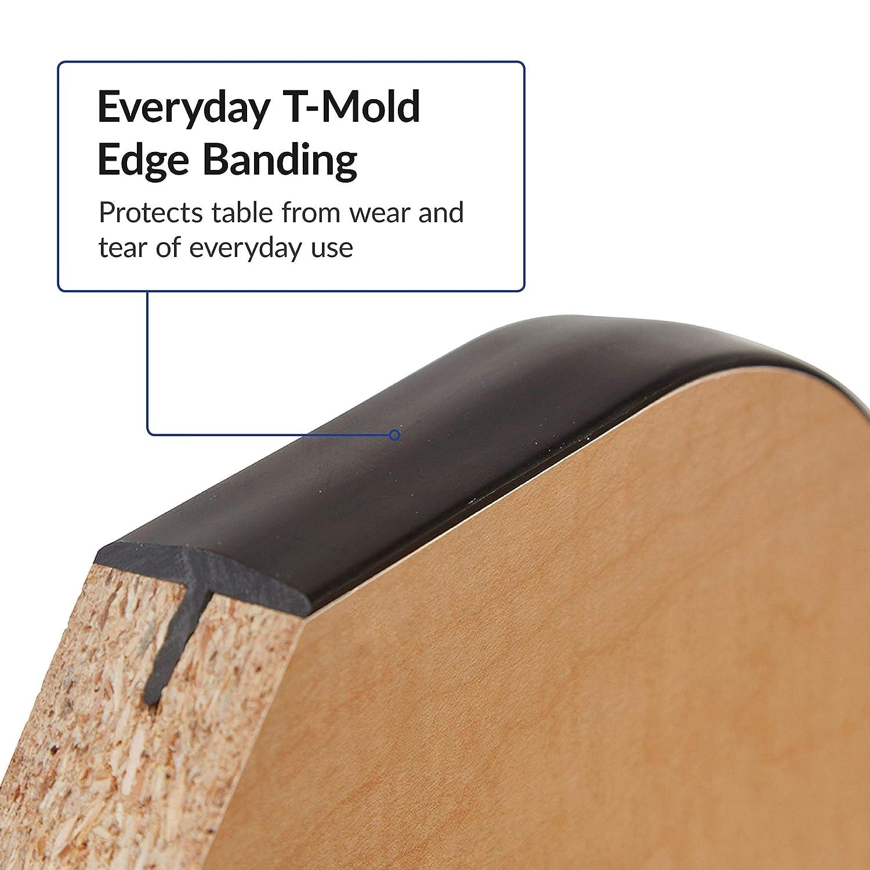 Standard Legs w// Ball Glides Adjustable Height 19-30 inch Grey//Red ECR4Kids Mesa Everyday 24 x 48 Half Round School Activity Table