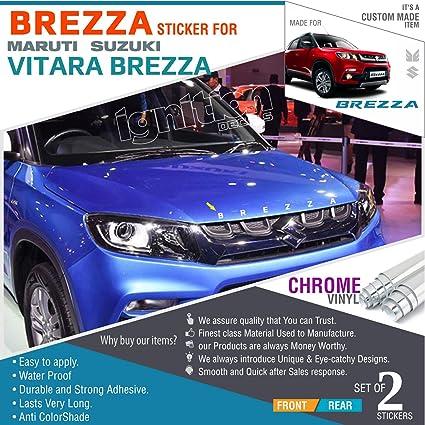 Decal Sr For Suzuki Brezza Chrome Vinyl Amazonin Car - Car show stickers