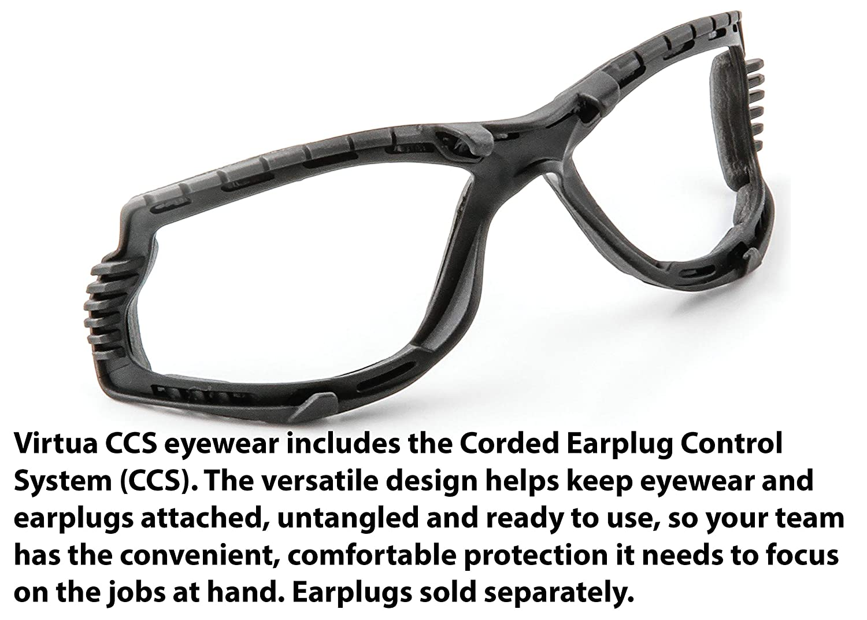 Foam Gasket Anti Fog Lens 3M Virtua CCS Protective Eyewear 11872-00000-20 Clear