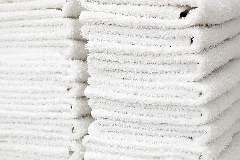 6 pieces bright white new cotton salon basics bleach safe economy washcloths