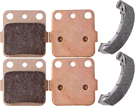 AUTOMUTO Front and Rear Brake Pads /& Shoes Compatible for Honda Rancher 420 2007 2008 2009 2010 2011 2012 2013