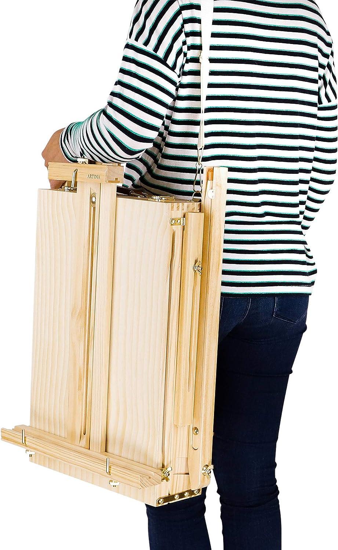 LJJYD Tableau Peinture chevalet Artiste chevalet de mani/ère cr/éative 10 pi/èces//Sac en Bois Mariage Design dint/érieur Mini en Bois