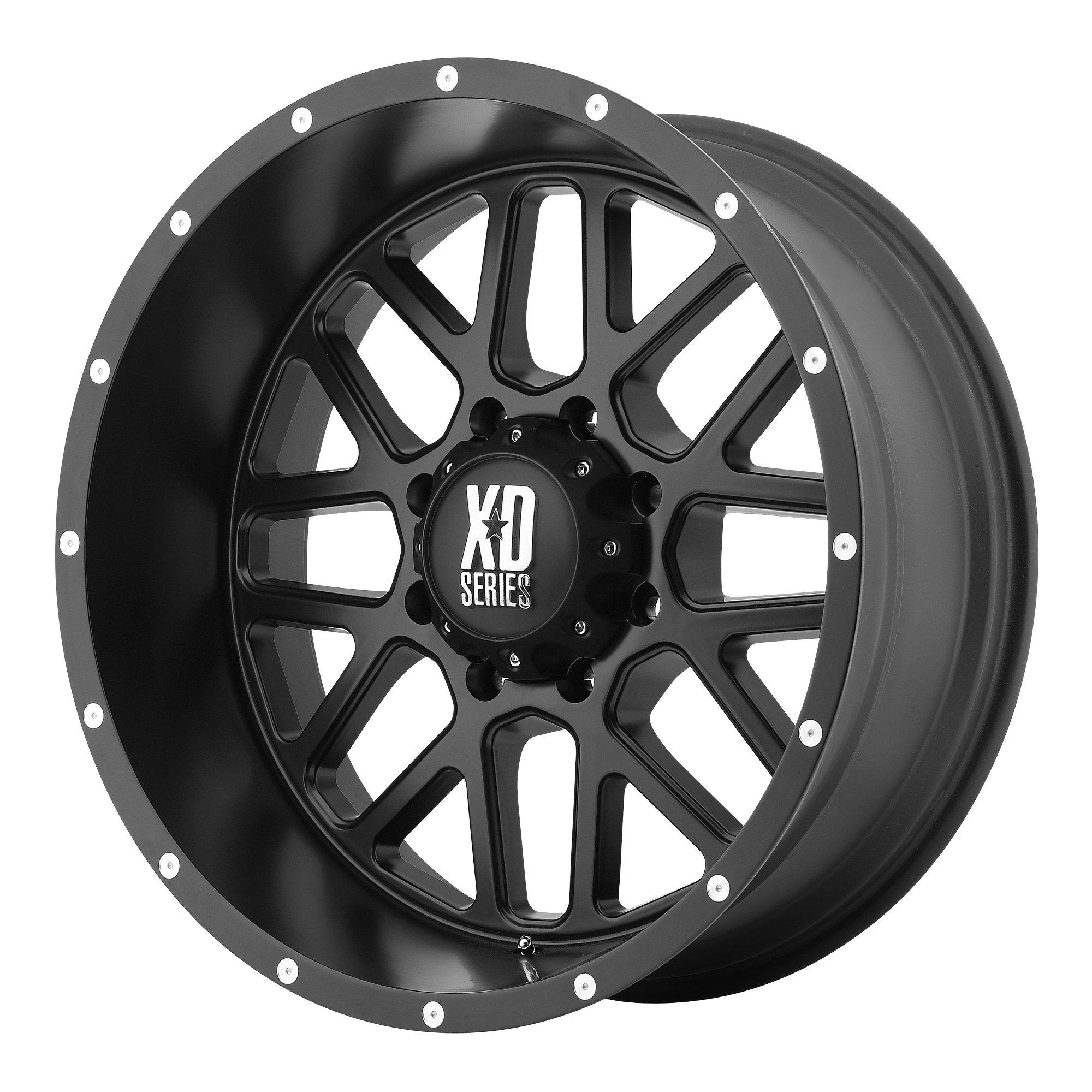 XD Series by KMC Wheels XD820 Grenade Satin Black Wheel (17x9''/5x127mm, -12mm offset)