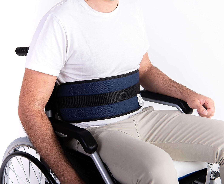OrtoPrime Cinturón Abdominal de Seguridad Confort para Silla de Ruedas o Silla Geriátrica - Alta Protección Anti-Caídas (Talla Universal Ajustable)