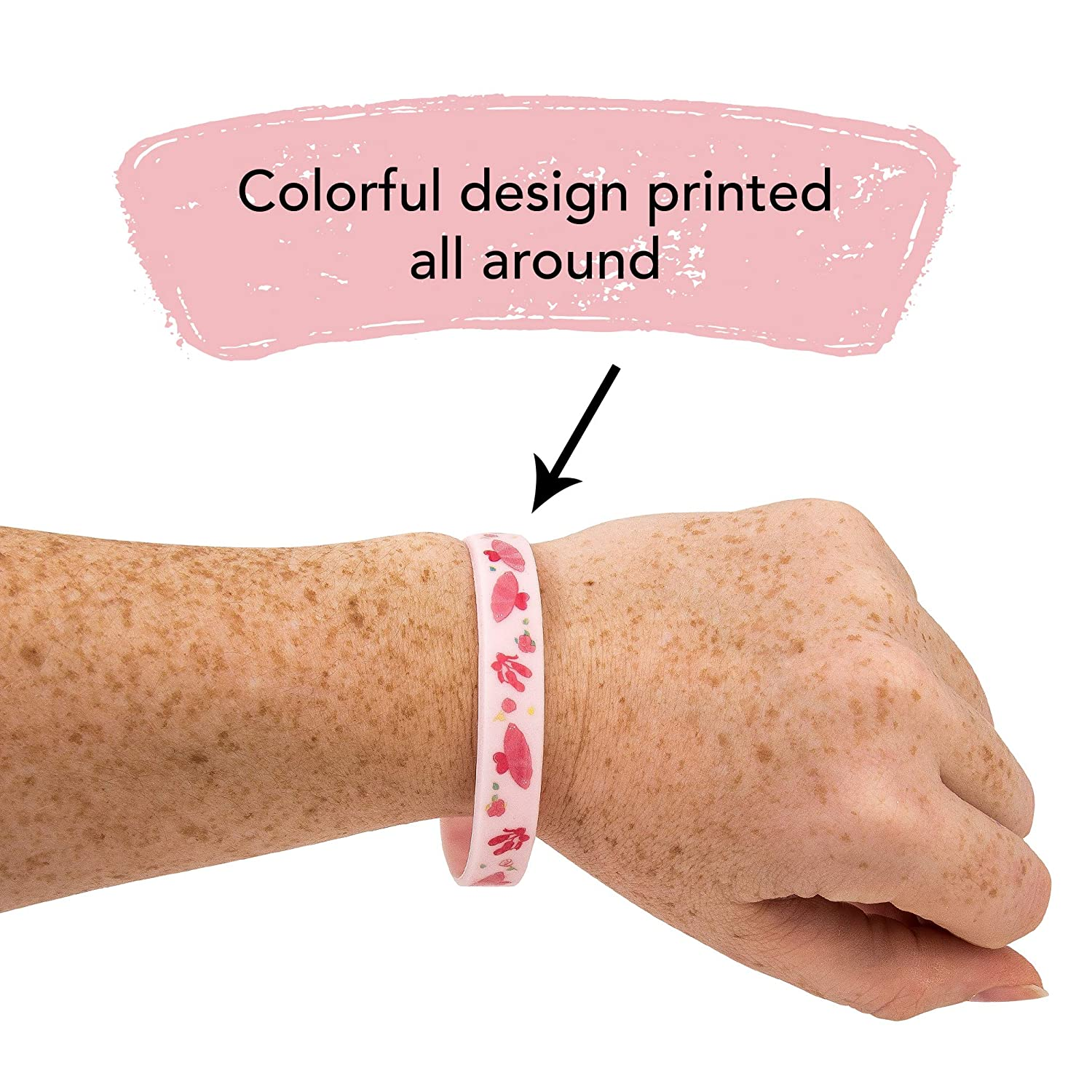 Ballerina Silicone Bracelet 4-Pack Birthday Party Favors Supplies Kids Boy Girl 4-Pack