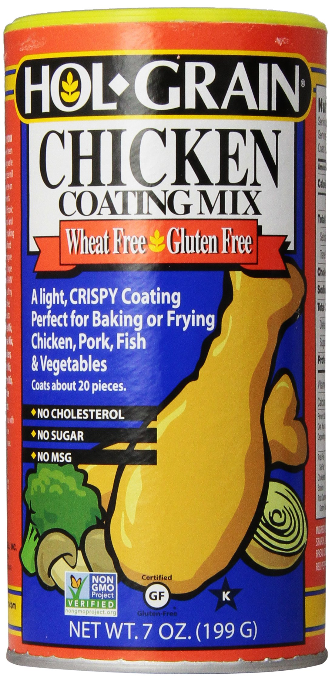DPI Specialty Foods Holgrain Chicken Coating Mix Wheat Free, 7-Ounce Boxes (Pack of 6)