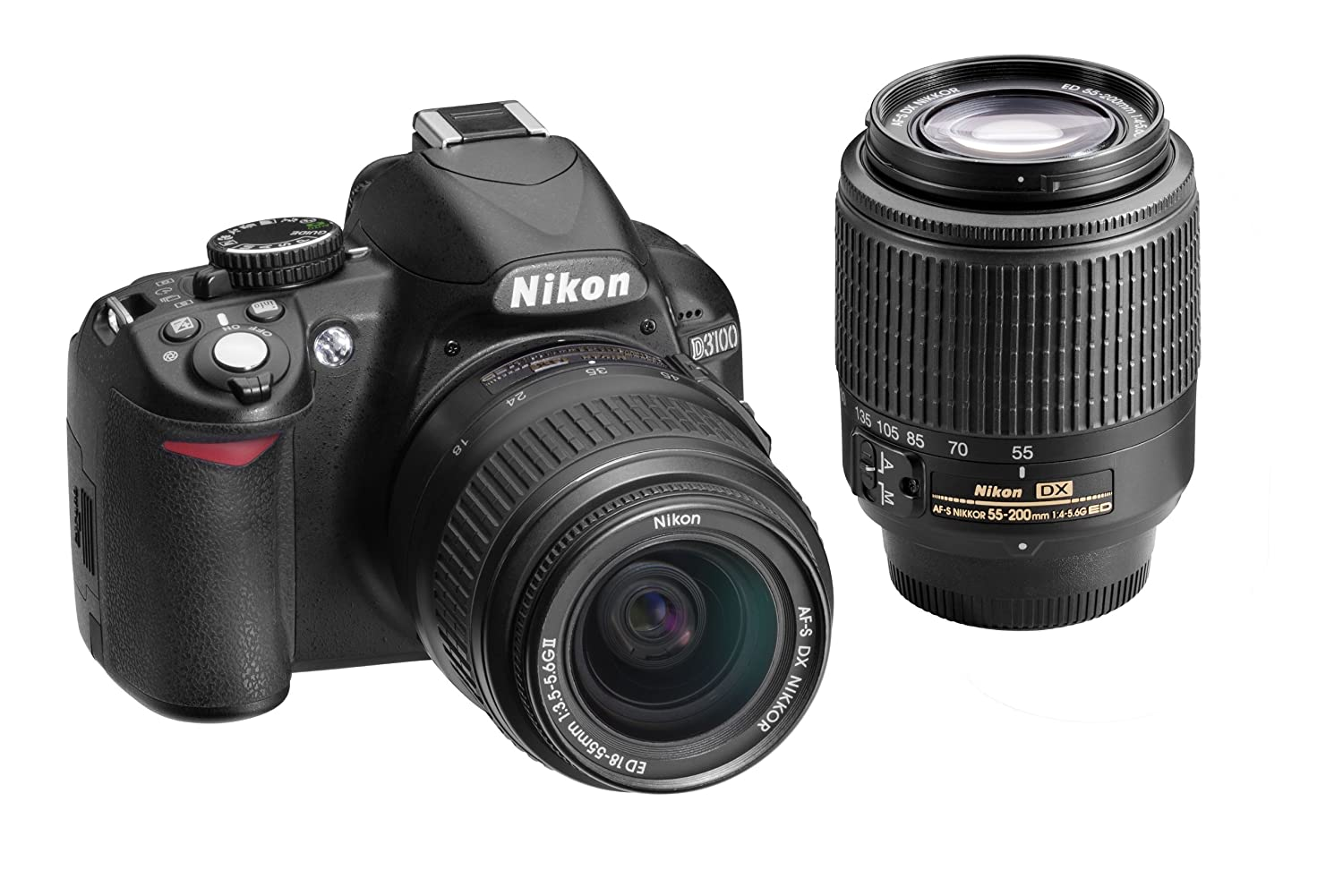 Nikon D3100 14.2MP Digital SLR Double-Zoom Lens Kit with 18-55mm and 55-200mm DX Zoom Lenses