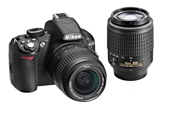 Nikon D3100 14 2MP Digital SLR Double-Zoom Lens Kit with 18-55mm and  55-200mm DX Zoom Lenses (Black) (Discontinued by Manufacturer)