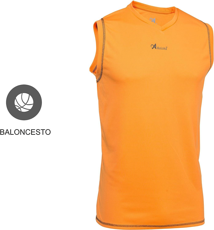 Camiseta de Baloncesto sin Manga Unisex Adulto Asioka 184//17