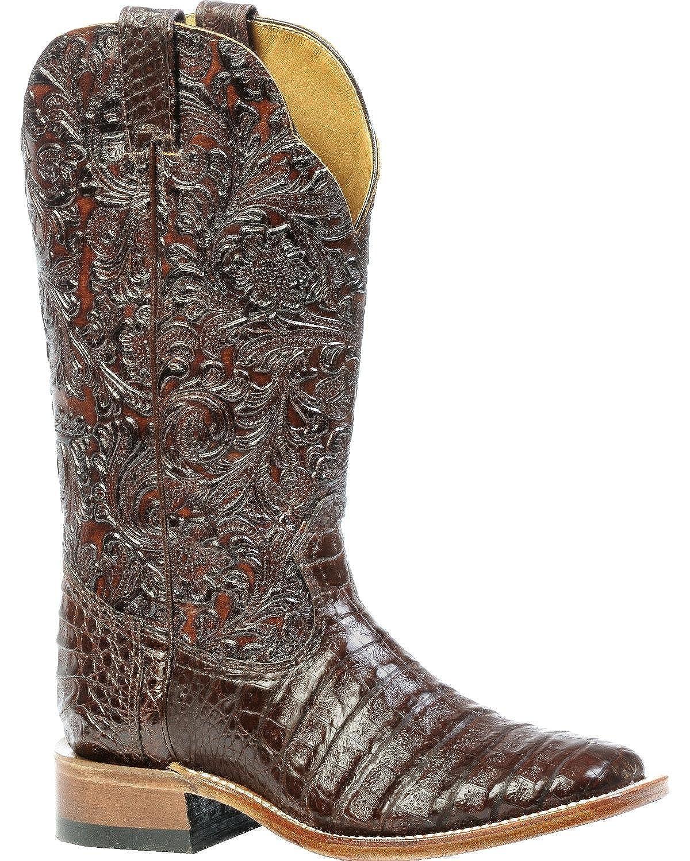 Soul Rebel Stiefel Amerikanischen – Cowboystiefel Exotische Schlangenhaut (Kroko) bo-4508 – 65-c (Fuß Normal) – Damen – Braun