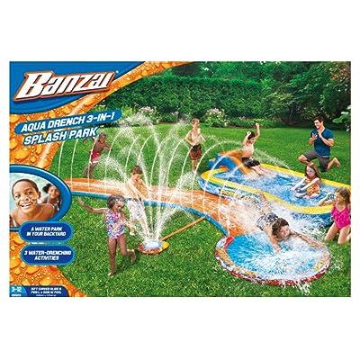 BANZAI Aqua Drench 3-in-1 Splash Park: Toys & Games [5Bkhe0906376]