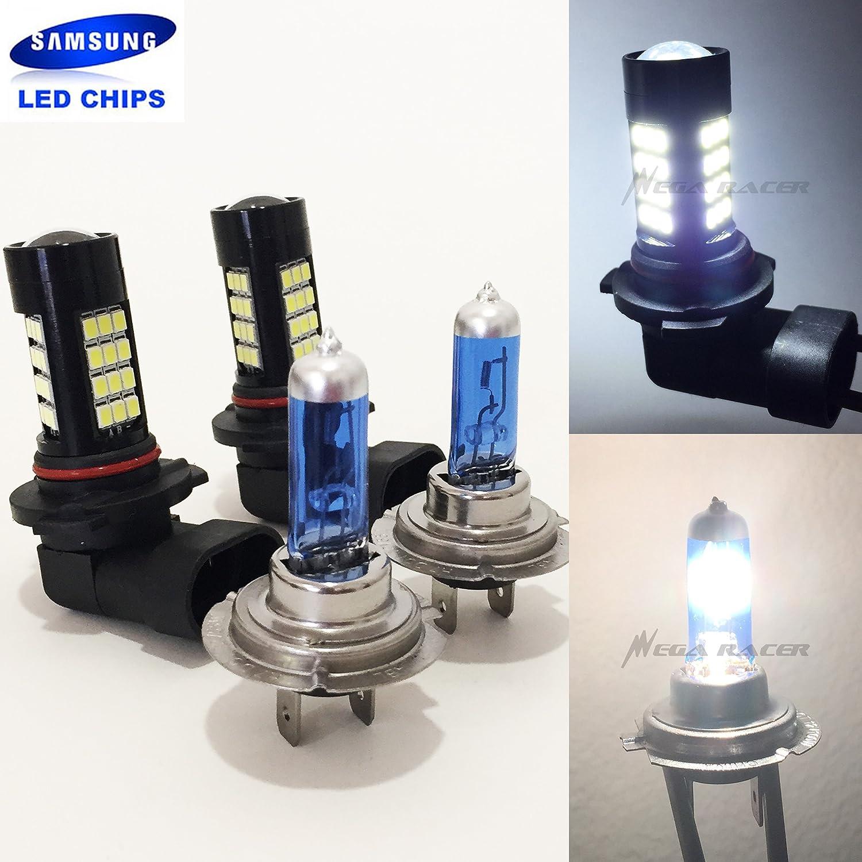 For BMW 3 Series E46 H7 55w Super White Xenon HID High Main Beam Headlight Bulbs