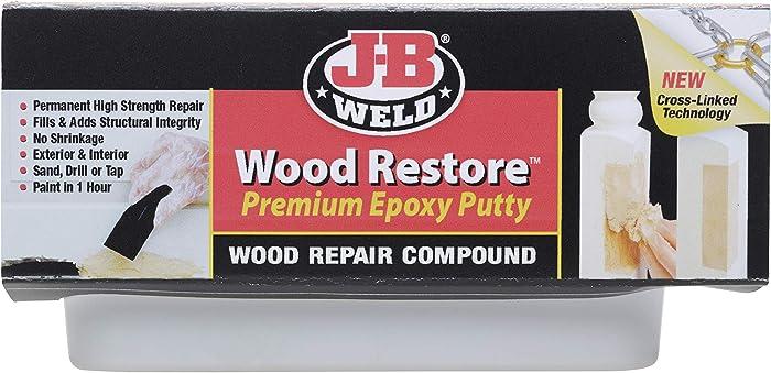 J-B Weld 40005 Wood Restore Premium Epoxy Putty Kit - 12 oz.