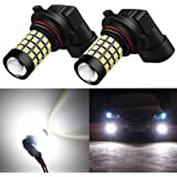 Alla Lighting 2000 Lumens High Power 2835 51-SMD Super Extremely Bright 6000K White 9006 HB4 9006LL LED Bulbs for Fog Light Lamps Replacement