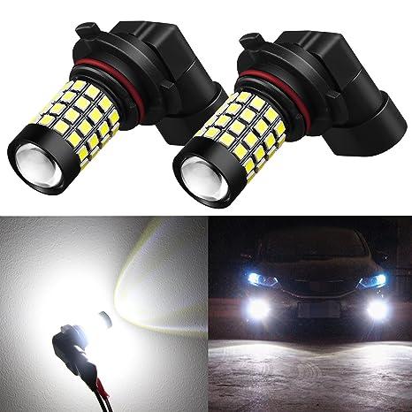 Bombillas LED de repuesto para faros antiniebla súper brillantes, 2000 lúmenes, 6000 k,