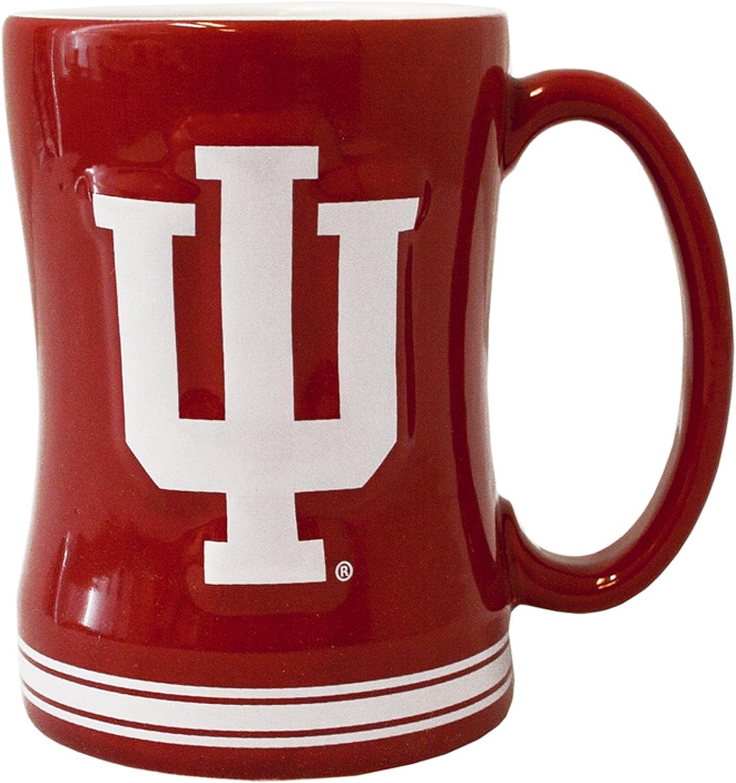 NCAA Indiana Hoosiers Sculpted Relief Mug, 14-Ounce