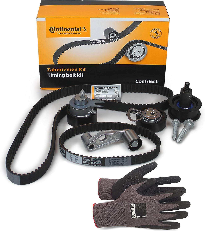 Inspektionspaket Contitech Zahnriemen Satz Ct957k2 Hochwertiger Wasserpumpe Priner Montagehandschuhe Auto