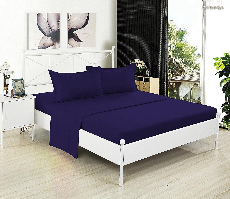 (Full, Purple) Full Flat Sheet Only Soft & Comfy 100% CottonBy Crescent Bedding (Full, Purple) B01M17SYUI フル|パープル パープル フル