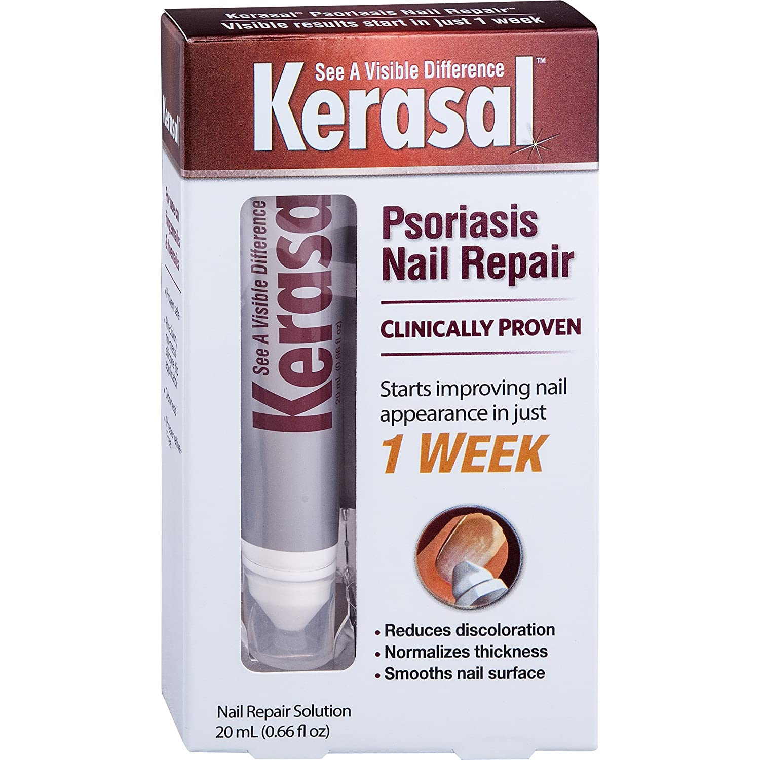 Amazon.com : Kerasal Nail Psoriasis Repair - Clinically Tested - New ...