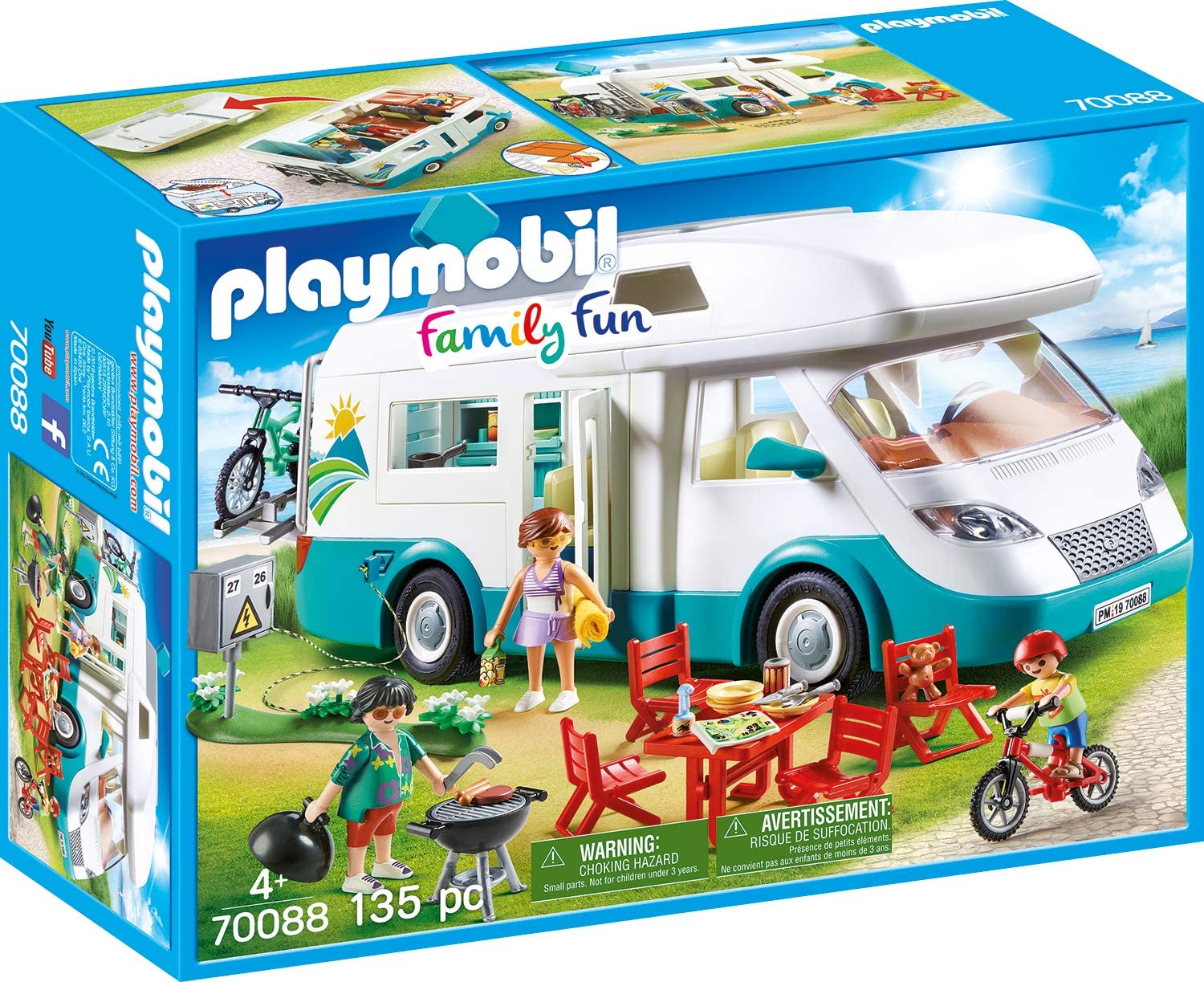 Playmobil Family Camper 70088 Family Fun Serie Camper with Equipment