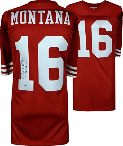 new style c2835 0c2dd Joe Montana San Francisco 49ers Autographed Mitchell & Ness ...