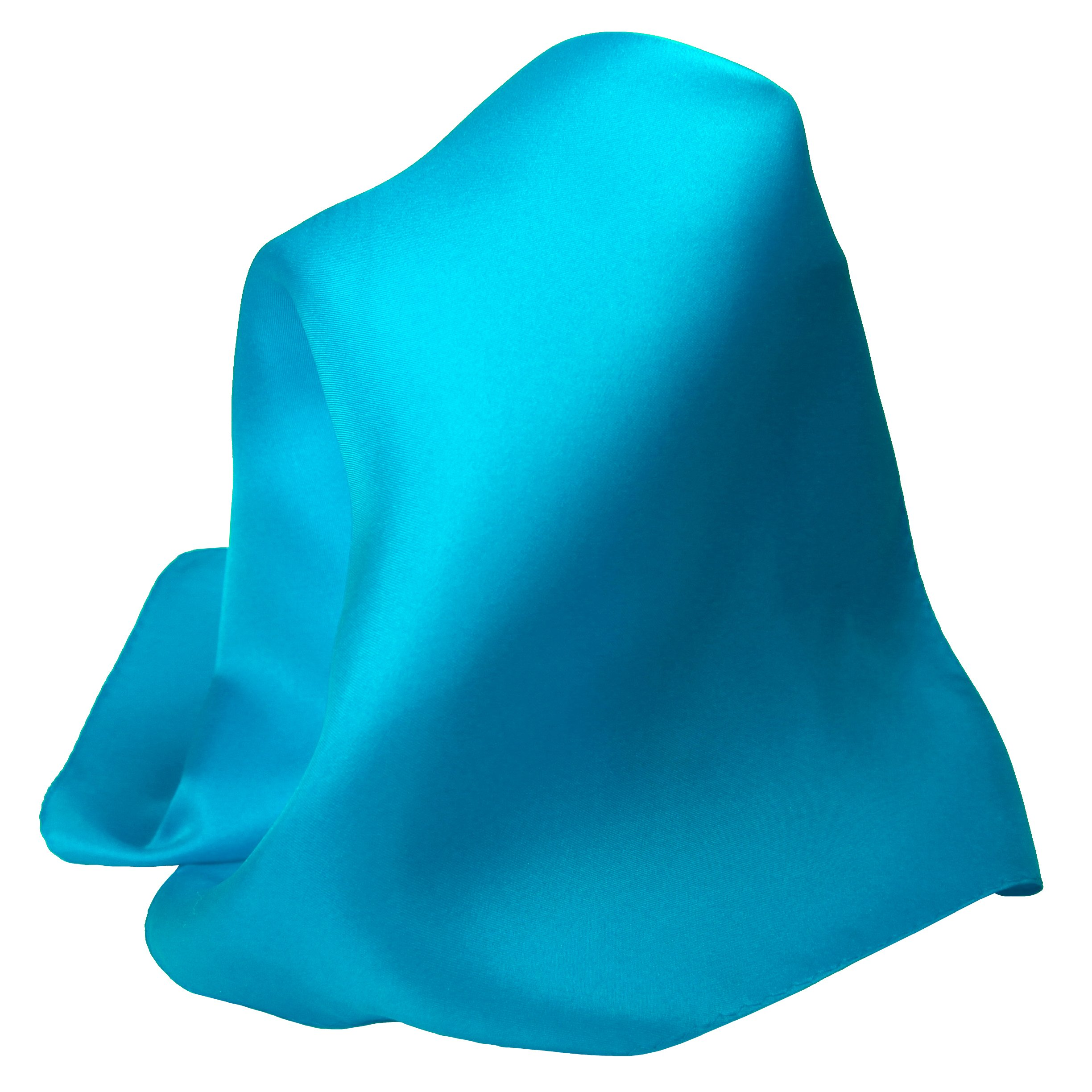 Classic Teal Silk Handkerchief - Full-Sized 16''x16''