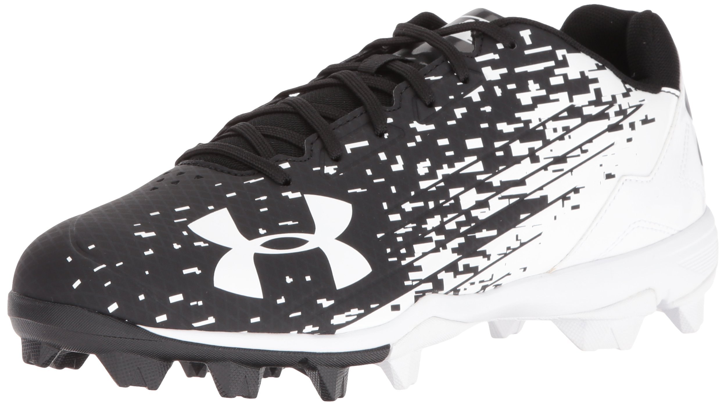 Under Armour Men's Leadoff Low RM Baseball Shoe, Black (011)/White, 12 by Under Armour