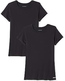 fbfe8597d00a Amazon Essentials Women's 2-Pack Tech Stretch Short-Sleeve Crewneck T-Shirt