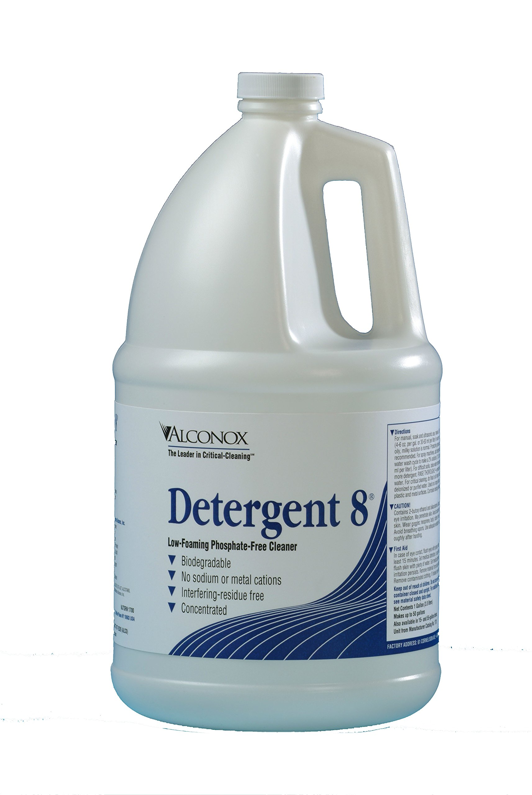 Alconox 1701 Detergent 8 Low Foaming Phosphate Free Detergent, 1 Gallon Bottle (Case of 4)