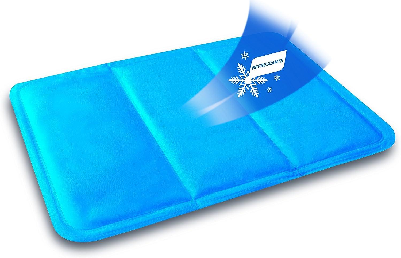 Daga Flexy-Heat Fresh - Almohadilla Refrescante, 40x30cm, Acabado PVC de Fácil Limpieza, 3 a 6 horas de Efecto Refrescante, Se Enfría Sola Sin Necesidad de Colocarla en la Nevera