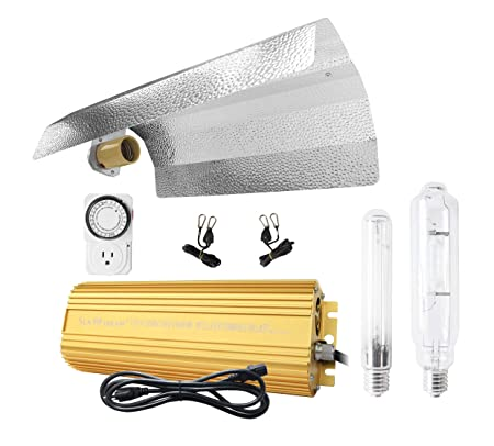 600 Watt HPS MH Digital Dimmable Grow Light System Kits Wing Reflector Set  with Timer