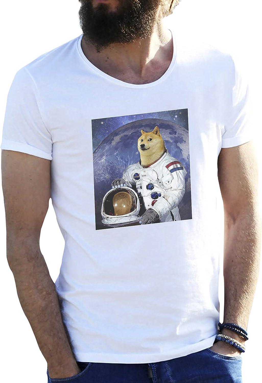Doge Astronaut NASA Netherlands Blanca Camiseta para Hombre Small: Amazon.es: Ropa y accesorios