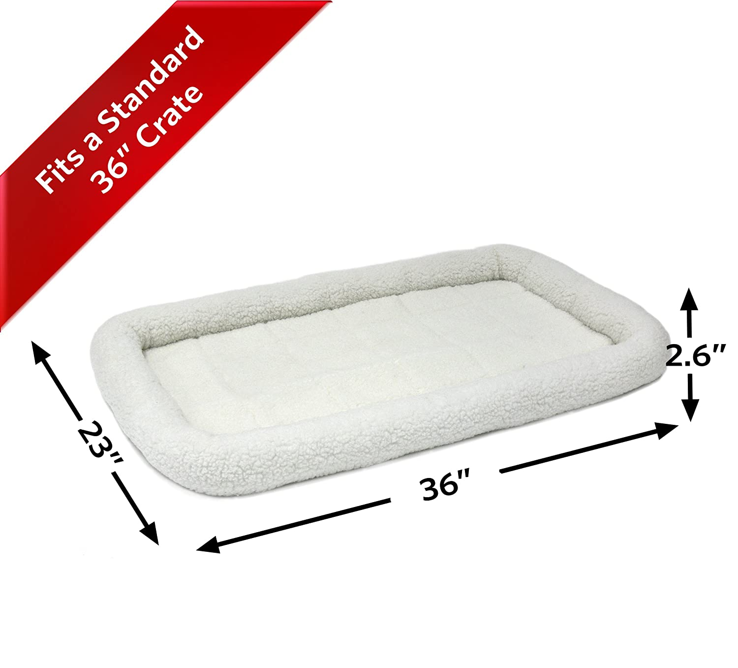 Easy Maintenance Machine Wash /& Dry 30L- Inch Cinnamon Dog Bed or Cat Bed w//Comfortable Bolster Ideal for Medium Dog Breeds /& Fits a 30-Inch Dog Crate 1-Year Warranty