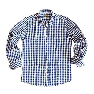 Almsach Herren Trachtenhemd Slim Fit Baumwolle Bügelfrei Langarm mit  Krempelärmeln Figurbetontes Hemd zur Lederhose oder Jeans dce398ad39