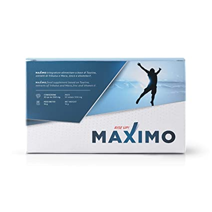 MAXIMO Integrador Sexual - Maca Taurina Zinc Tribulus y Vitamina E - Aumenta Erecciòn Libido y