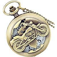 Reloj de bolsillo para hombre, de bronce, vintage, irregular, diseño de calavera punk árabe, con números arábigos, reloj…