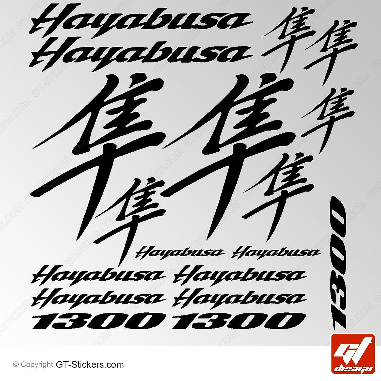 Aufkleber /Schwarz/ GT-Design Aufkleber Suzuki 1300/Hayabusa/ /Sticker selbstklebend