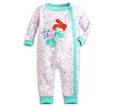 59974aae35 Disney The Little Mermaid Ariel Infant Footless Stretchie Sleeper (0-3M)