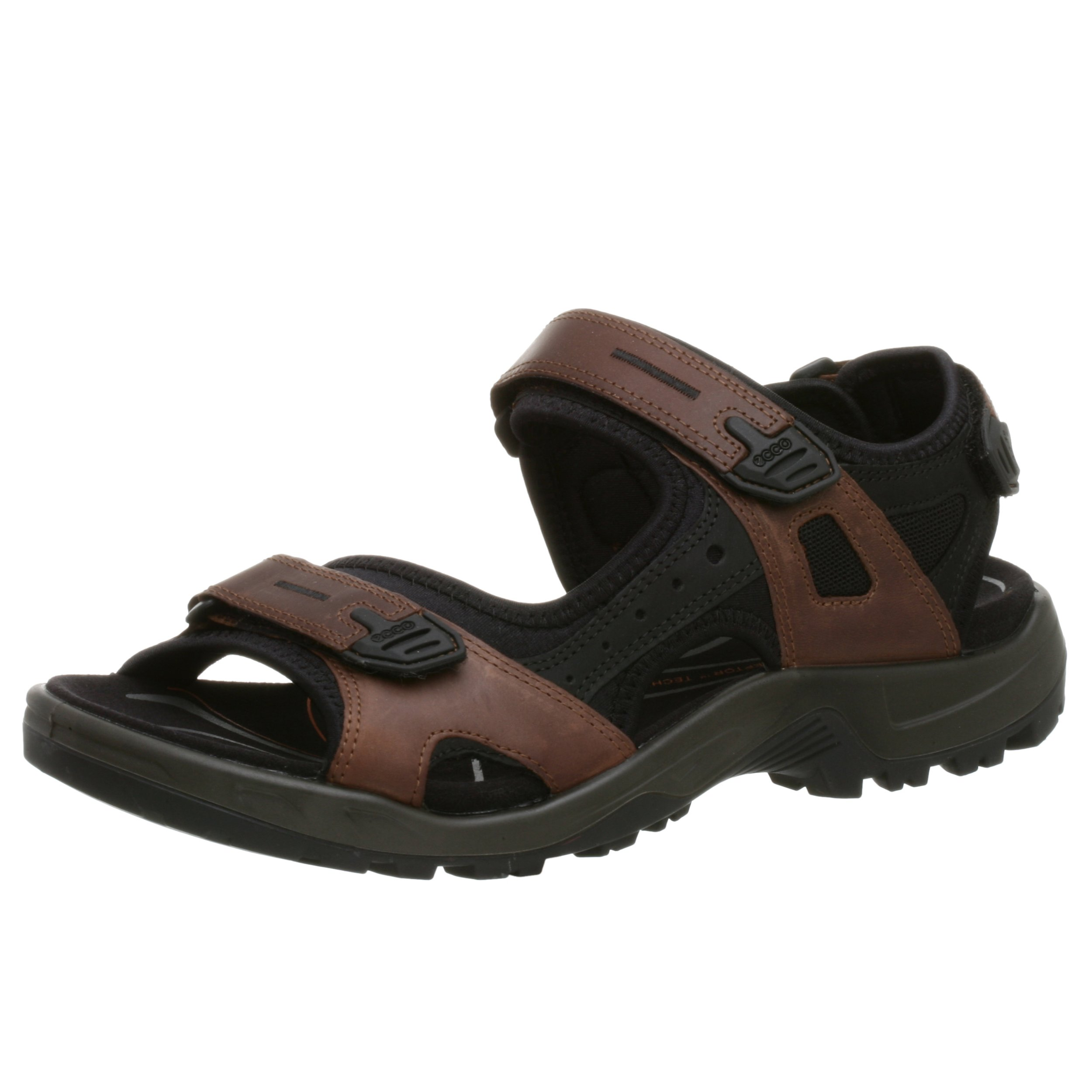 ECCO Men's Yucatan Sandal,Bison/Black/Black,42 EU (US Men's 8-8.5 M)