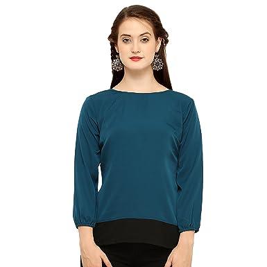 879e093e010081 Vrati Fashion Women Tunic Short Top for Jeans Plain Diamond Creap ...