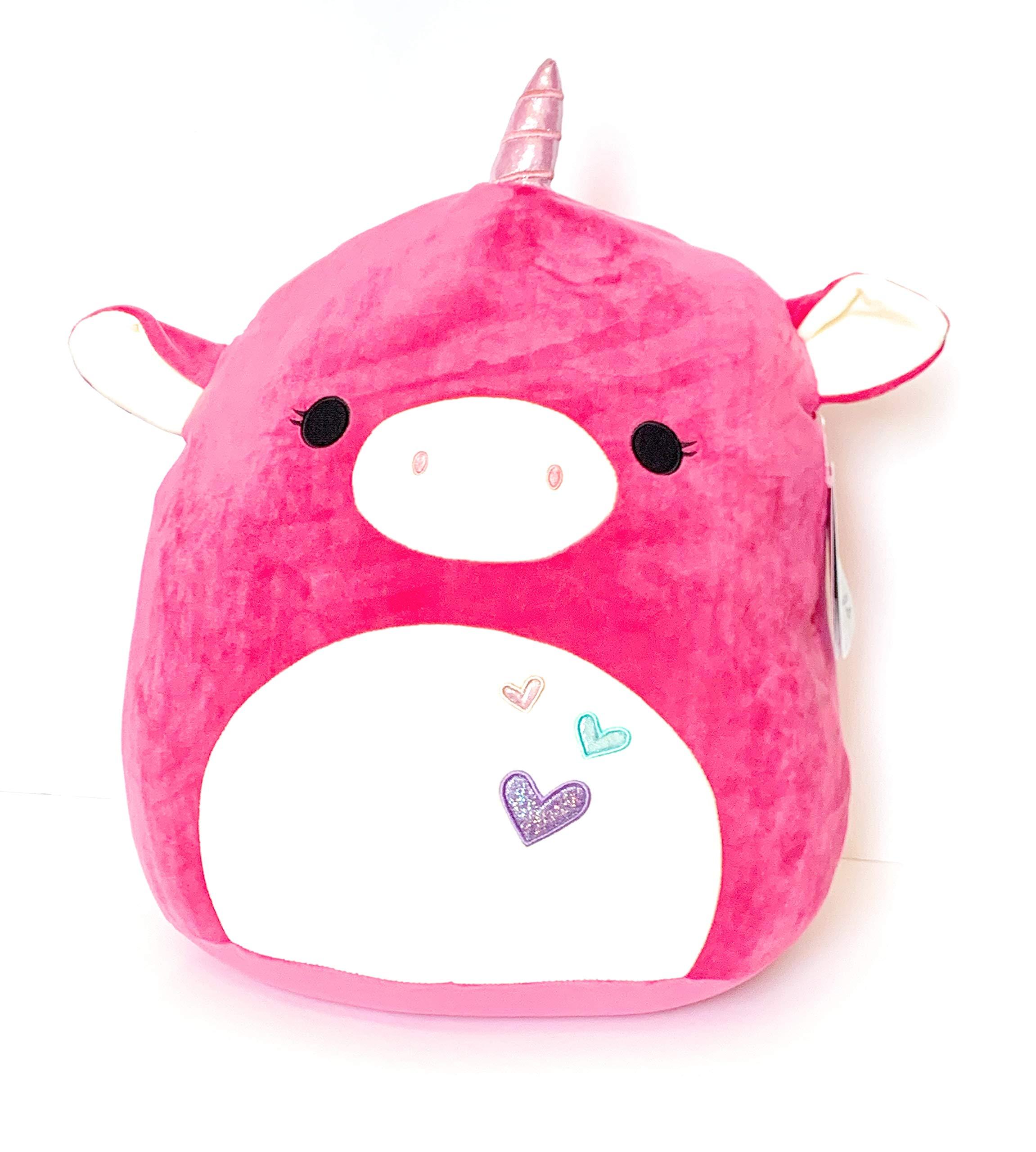 Squishmallows 16'' Avery The Pink Valentine Unicorn Stuffed Animal Plush Pillow