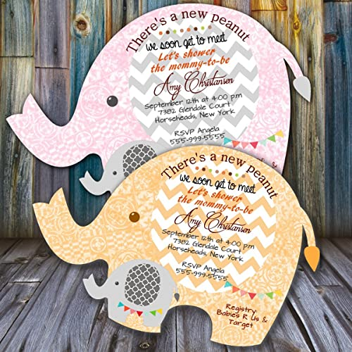 amazon com elephant baby shower invitations jungle themed