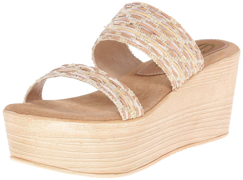 Sbicca Women's Sesillia Wedge Sandal B015W69N6S 7 B(M) US|Natural/Multi